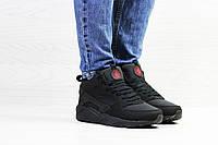 Теплые подростковые кроссовки Nike 6913 черные, фото 1
