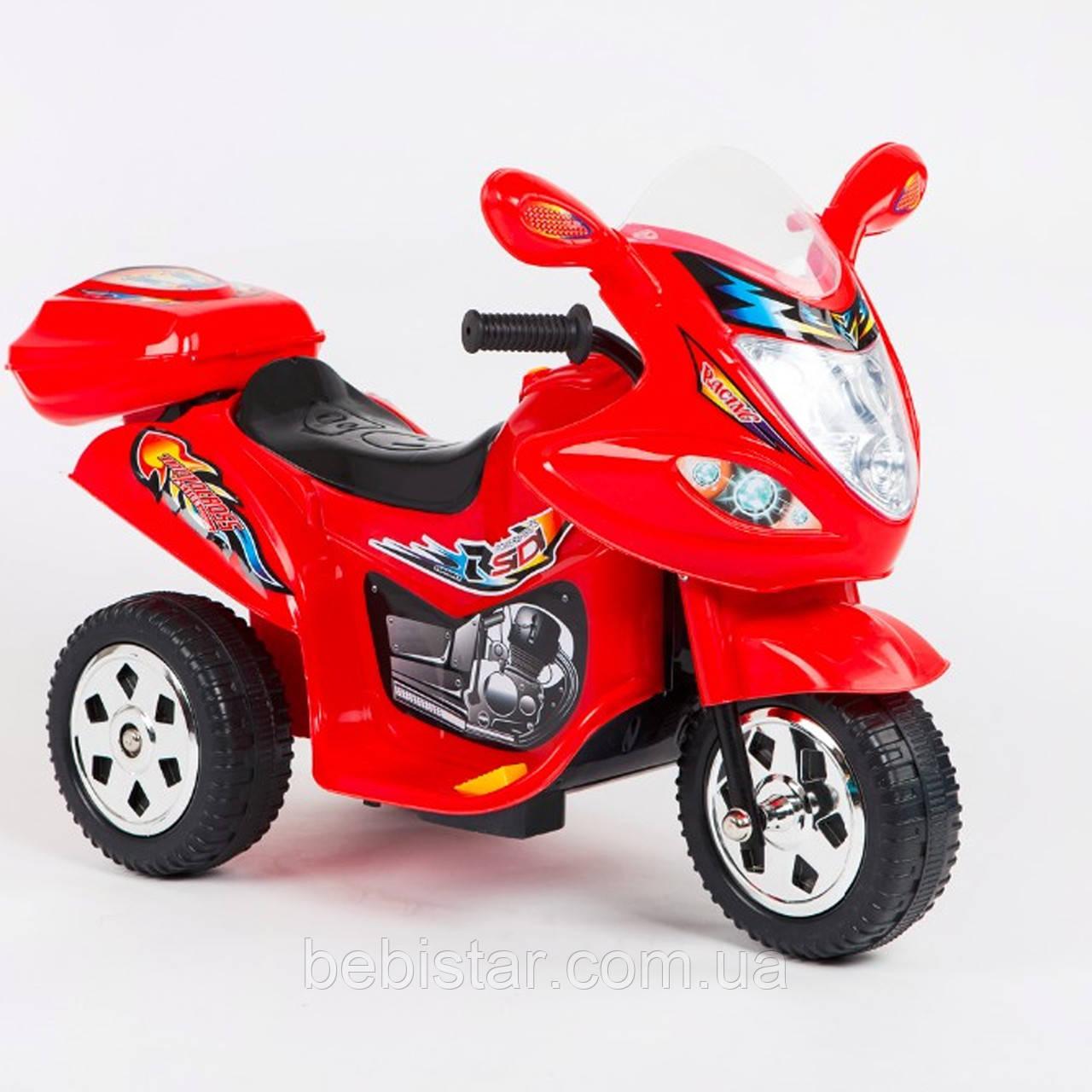 Дитячий електромобіль-мотоцикл Т-7217 червоний діткам 2-4 роки