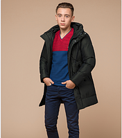 Куртка зимняя молодежная Braggart Youth темно-зеленая топ реплика