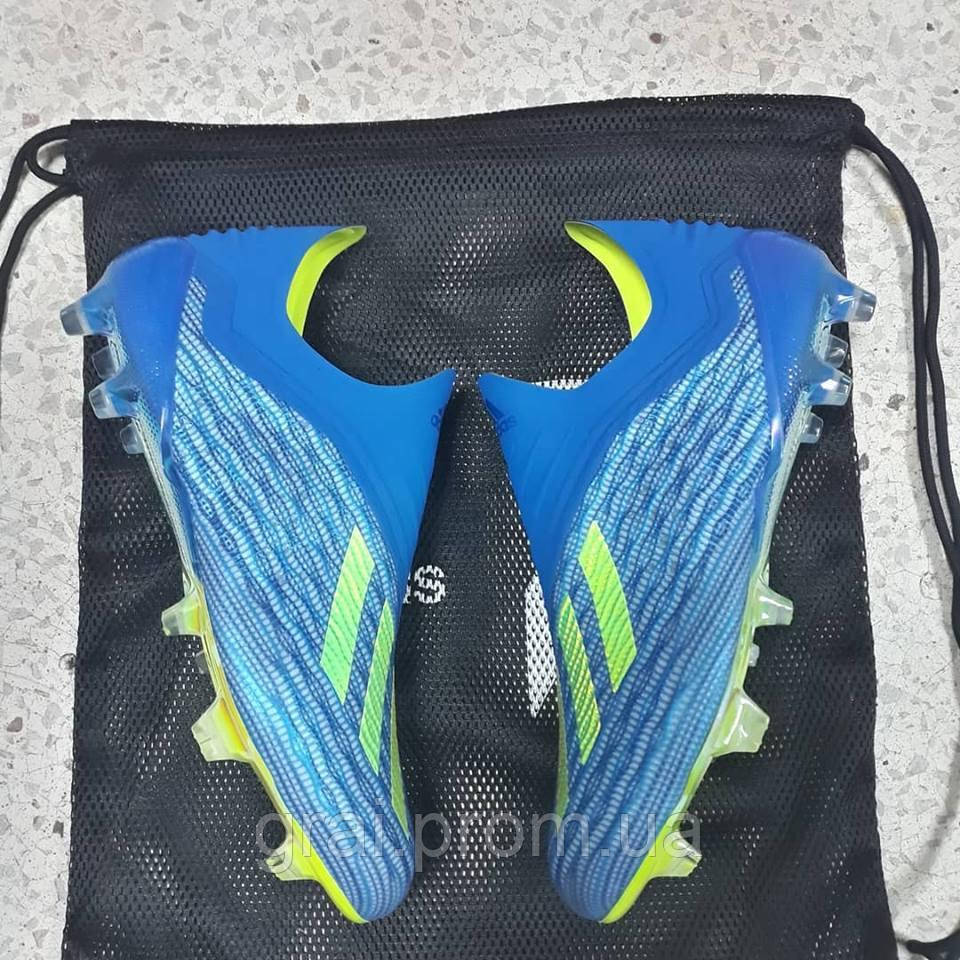 e099b705 Бутсы adidas X 18+ FG/AG Blue/Yellow: продажа, цена в Киеве ...