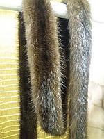 Пояс из меха норки (махагон)