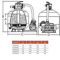 Фильтрационная установка Emaux FSF500 (11.1 м3/ч, D500) для бассейна объёмом до 45 м3, фото 2