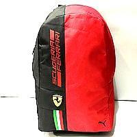 Рюкзаки спортивные текстиль Ferrari+Puma (черный+красный)30*44см