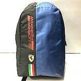 Рюкзаки спортивные текстиль Ferrari+Puma (черный+красный)30*44см, фото 2