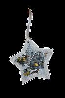 Деревянная игрушка-открытка на ёлку, Звезда