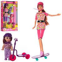 Кукла Defa Lucy 8191 24шт 2 вида, сестрички, на самокате, аксесс, в кор.