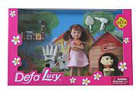 Кукла Defa Lucy 8281 24шт2 собачка,бутылка,косточкад,в кор,27,5176 см