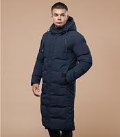 Куртка-пальто зимняя молодежная Braggart Youth темно-синяя топ реплика