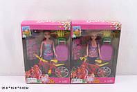 Кукла R8418 108шт3 2 вида, велосипед, шлем,чемодан, аксес, в кор.26196 см