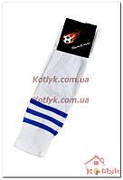 Гетры футбольные мужские бело-синие