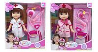 Кукла Доктор A301 24шт2 2 вида, шприц, стетоскоп, планшет, в кор.