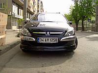 Peugeot 307 передняя нижняя юбка под покраску