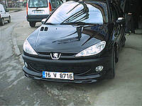 Peugeot 206 Передняя нижняя юбка под покраску