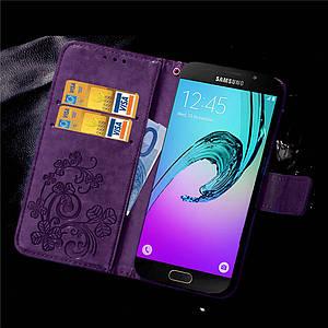 Чехол Clover для Samsung Galaxy A3 2016 A310 книжка женский Purple