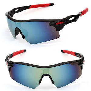 Очки спортивные Robesbonтактические велосипедные спортивные велоочки MD Chameleon Red