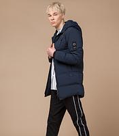 Куртка зимняя молодежная Braggart Youth темно-синяя топ реплика