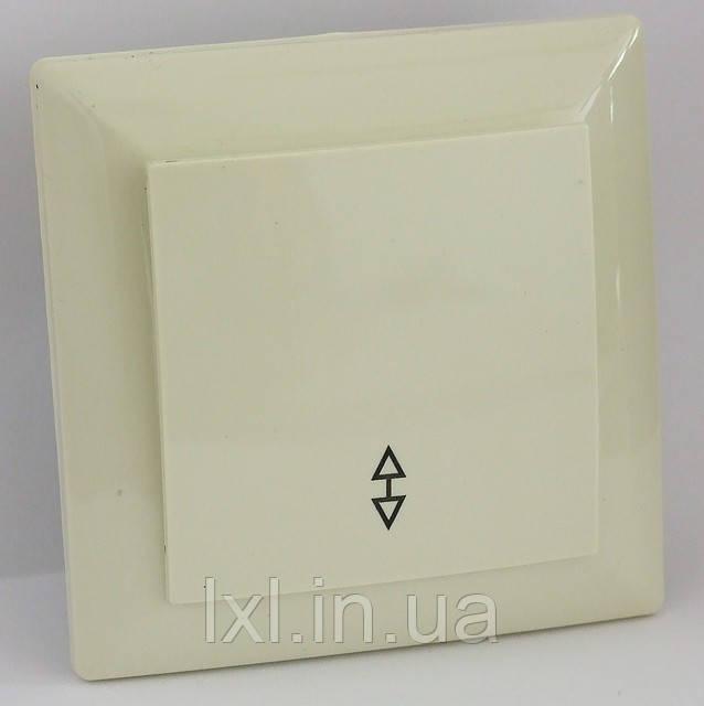 Выключатель проходной (белый, крем) LXL ULTRA