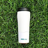 Не падающая термокружка Ama Mug Белая (470 мл)