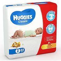 Подгузники Huggies Classic 2 (3-6 кг) Мега 88шт