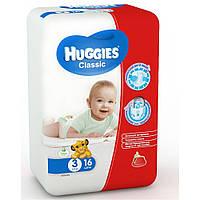 Подгузники Huggies Classic 3 (4-9 кг) Смол 16шт