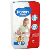 Подгузники Huggies Classic 4 (7-18 кг) Смол 14 шт