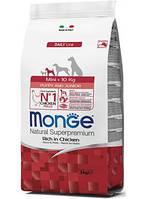 Monge (Монж) Mini Puppy & Junior сухой корм для щенков мелких пород, 15 кг