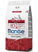 Monge (Монж) Mini Adult сухой корм для взрослых собак мелких пород, 3 кг