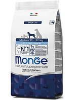 Monge (Монж) Medium Puppy & Junior сухой корм для щенков средних пород, 15 кг