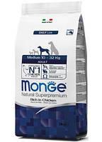 Monge Medium Adult корм для взрослых собак средних пород, 15 кг