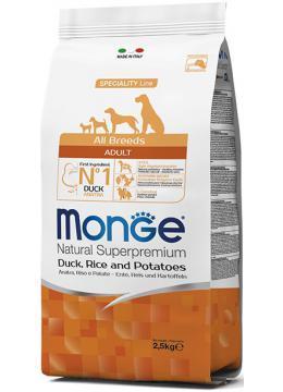 Monge All Breed Adult Duck корм с уткой, 2.5 кг