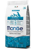 Monge (Монж) All Breed Adult Hypoallergenic сухой корм с лососем, 15 кг