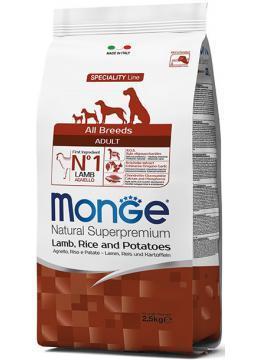 Monge All Breed Adult Lamb корм с ягненком, 15 кг