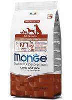 Monge (Монж) Puppy & Junior Lamb сухой корм для щенков с ягненком, 2.5 кг