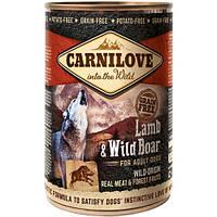 Carnilove Lamb & Wild Boar консервы для собак с ягненком и диким кабаном