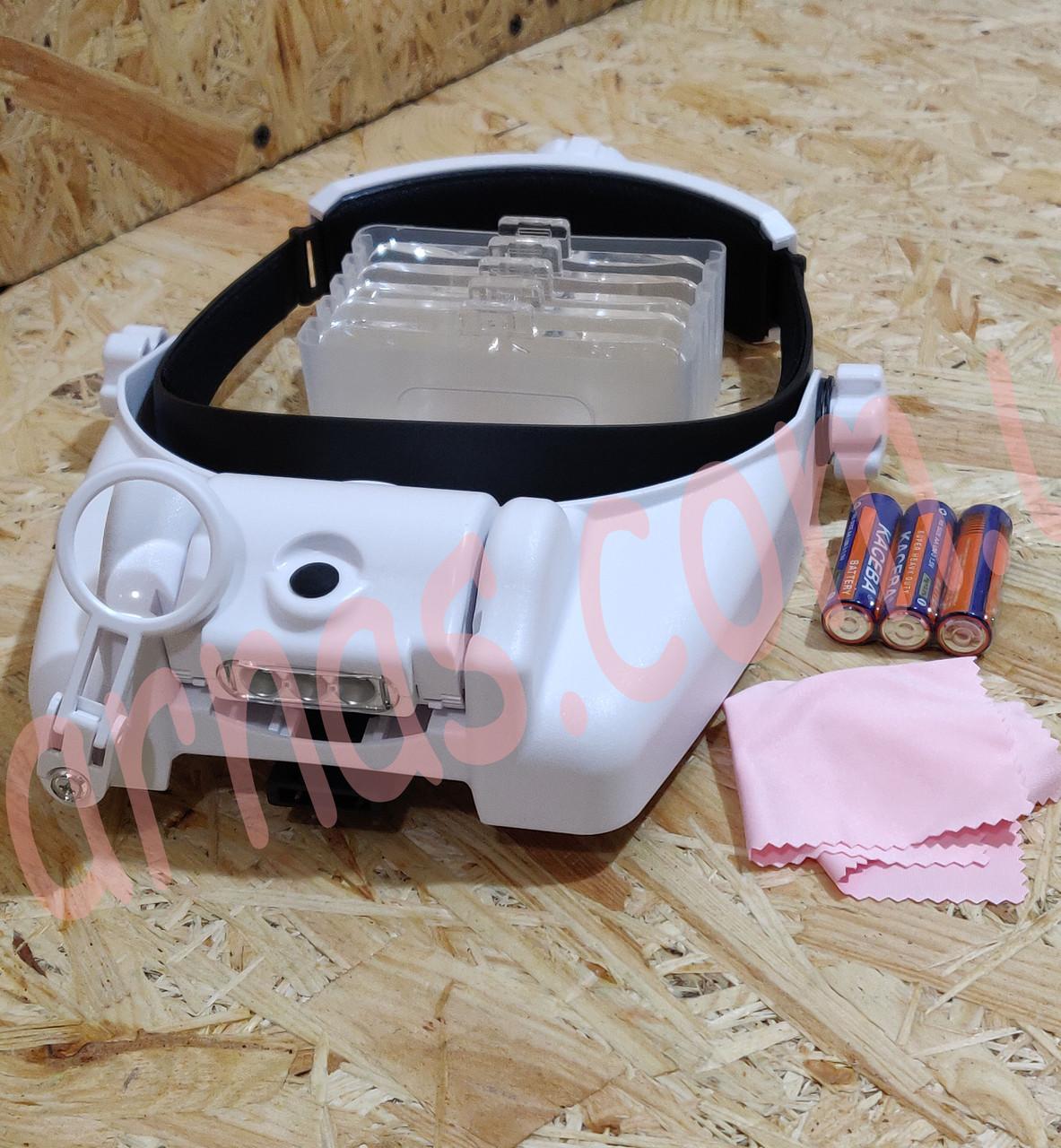 Бинокуляр очки бинокулярные со светодиодной подсветкой MG82000M