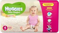 Подгузники Huggies Ultra Comfort 4 для девочек (66 штук)