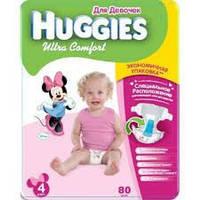 Подгузники Huggies Ultra Comfort 4+ для девочек (60 штук)