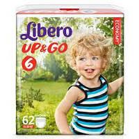 Подгузники Libero Up&Go размер 6 (62 шт.)