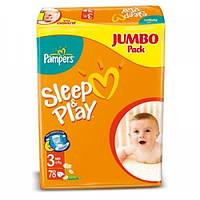 Pampers Sleep & Play размер 3 (78 штук)