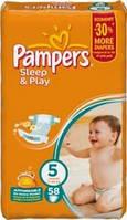 Pampers Sleep & Play размер 5 (58 штук)