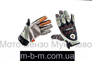 Мото рукавички   9-1 чорно-сірі  розмір L