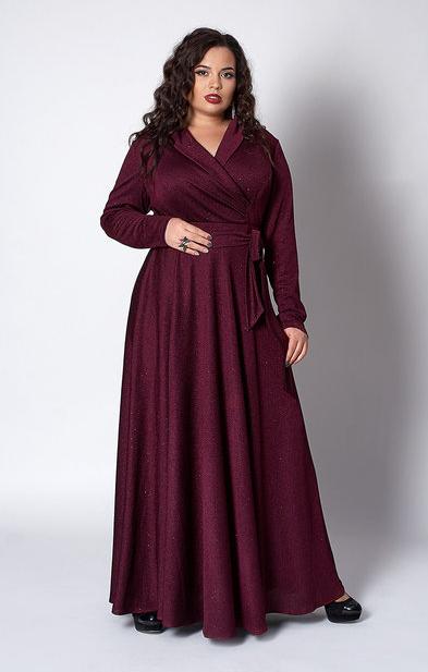 """Платье длинное в пол """"Гертруда"""" размер 52 бордо"""