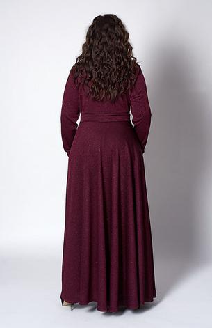"""Платье длинное в пол """"Гертруда"""" размер 52 бордо, фото 2"""