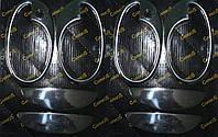 Opel Corsa C Накладки на ручки с обводкой (8 шт., нерж.)