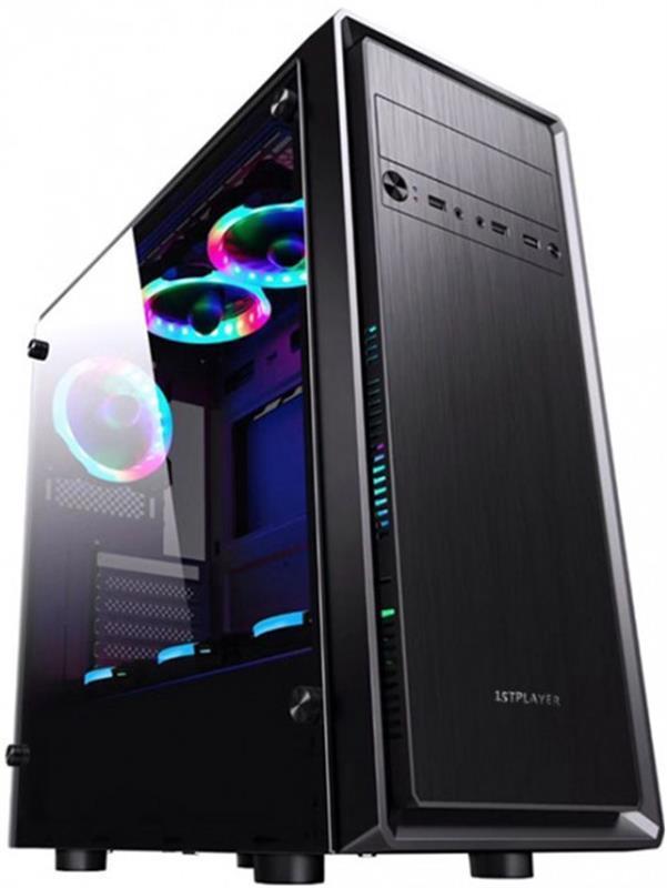 Корпус 1stPlayer D6 Color LED Black без БП 6931630200376