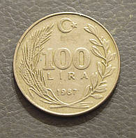 Турция 100 лир 1987 год (АР)
