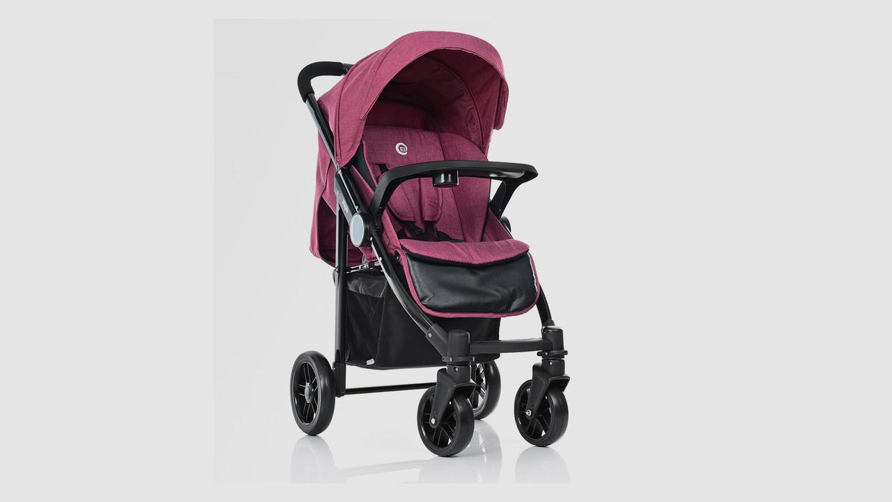 Детская прогулочная коляска EL CAMINO TEMPO. Розового цвета