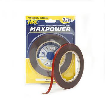 Скотч двухсторонний Maxpower черный 6мм на 5 метров