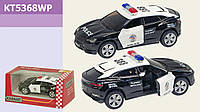 Машина металл KINSMART KT5368WP 96шт4 Lamborghini Urus Police, в коробке 1687,5см