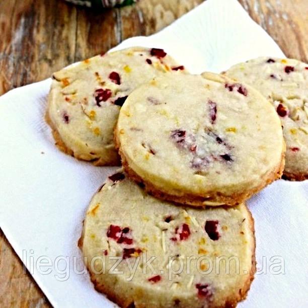 Печиво пісочне з цукатами для брендування  та декорування [коло з гладким краєм]